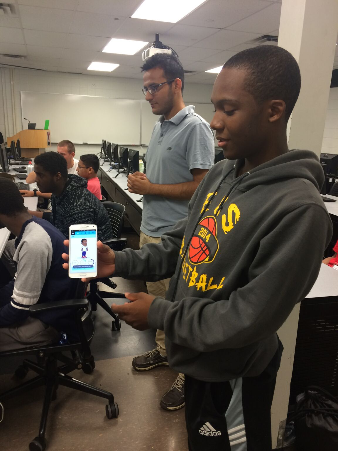 Advanced Coding Interns Work With A Variety of Apps To Help Them Set Goals For Their Projects